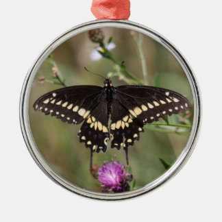 Black Swallowtail Metal Ornament