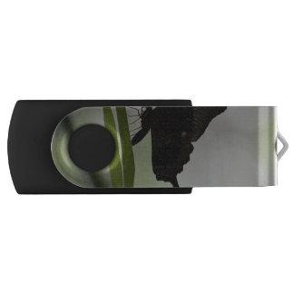 Black Swallowtail Swivel USB 2.0 Flash Drive