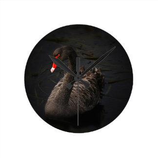 Black-swan-1229 Wall Clocks