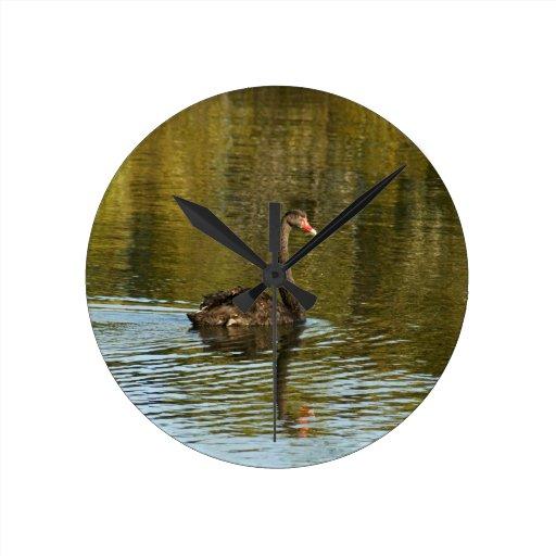 Black Swan Round Clock