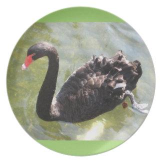 Black Swan Decorative Plate