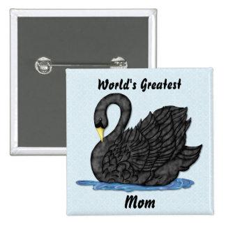 Black Swan for Mom 15 Cm Square Badge