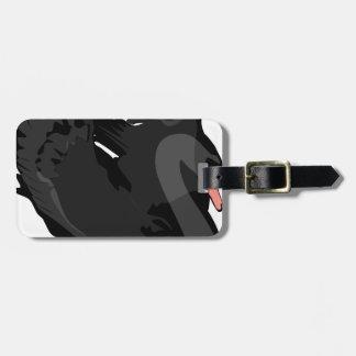 black swan luggage tag