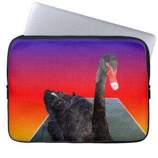 Black_Swan_Rainbow_Popout,_13inch_Laptop_Sleeve Laptop Sleeve