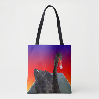 Black_Swan,_Rainbow_Popout_Art,_Shopping_Bag Tote Bag