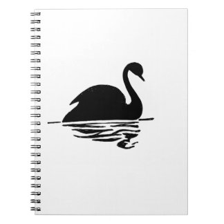 Black Swan Silhouette Notebook