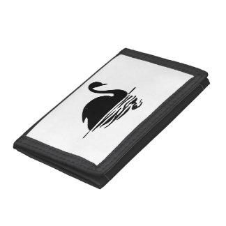 Black Swan Silhouette Trifold Wallet