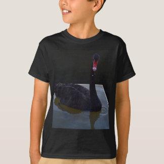 Black Swan Swimming In Dimensional Pond, T-Shirt