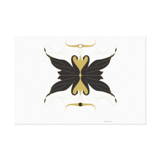 Black Swans and Doves Canvas Print