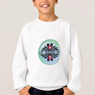BLACK SWANS & HEARTS BUBBLE by SHARON SHARPE Sweatshirt