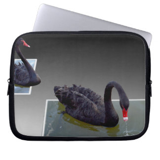 Black Swans Swimming In Ponds 10inch Laptop Sleeve
