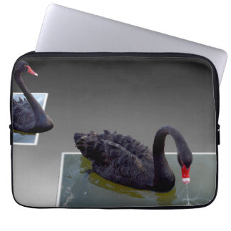 Black Swans Swimming In Ponds 13inch Laptop Sleeve