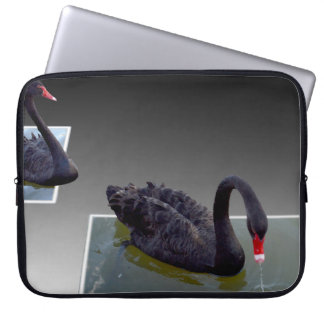 Black Swans Swimming In Ponds 15inch Laptop Sleeve