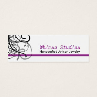 Black Swirl Profile Cards in Purple
