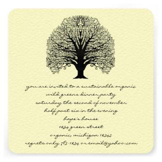 Black Swirl Tree Invitation