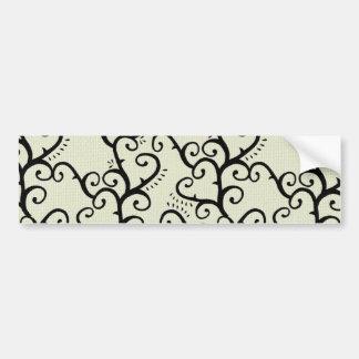 Black Swirl Vines Background Bumper Sticker