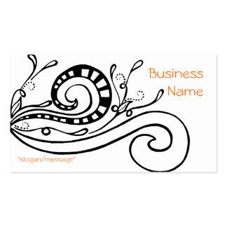 Black Swirled Doodle Design Business Card