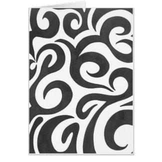 Black Swirls (1) Card