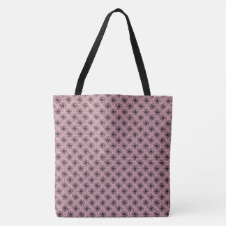 Black Swirls Customizable Tote Bag
