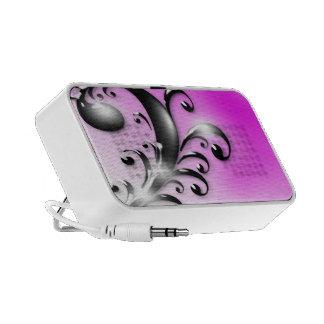 black Swirls on Pink Doodle Speaker