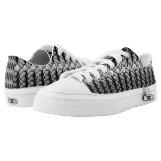 Black Swirls Printed Shoes