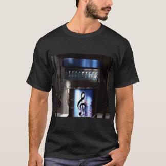 Black T-Shirt with 2 Unique Blue Guitar Amp Images