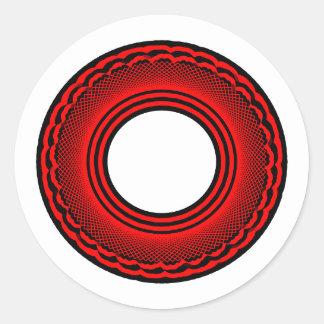Black talking ring sticker