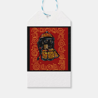 Black & Tan Doxie of the Year Gift Tags