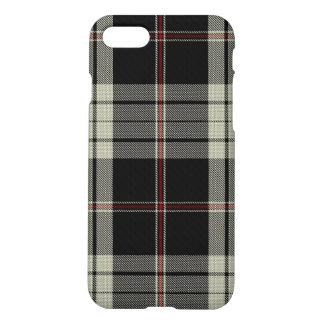 Black Tan Red Large Tartan Plaid iPhone 8/7 Case