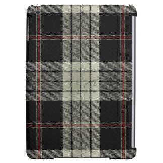 Black Tan Red Tartan Plaid iPad Air Cover
