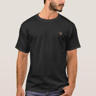 Black Tan Round Graphics on Pocket Artea 6x T-Shirt