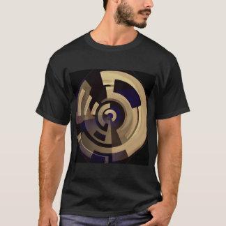 Black Tan Round Graphics T-Shirt