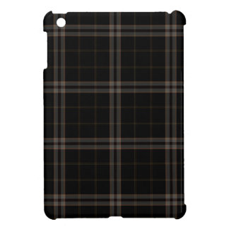 Black Tan Squares Tartan Plaid iPad Mini Case