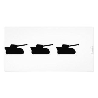 black tanks icon custom photo card