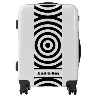 Black Target Rings + your beckgr. & Name Luggage