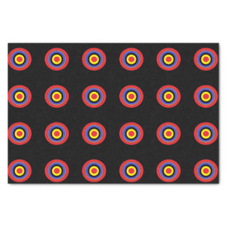 black target tissue paper
