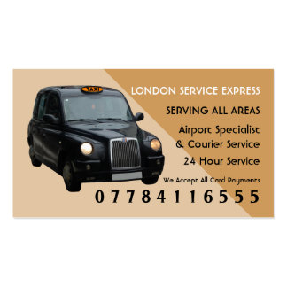 Black Taxi Cab Airport And Station Price Lists Pack Of Standard Business Cards