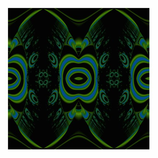 Black, Teal and Emerald Green Floral Design. Photo Cutouts