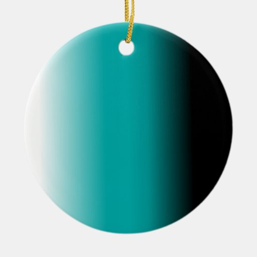 Black Teal White Ombre Christmas Tree Ornament