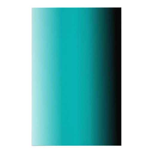 Black Teal White Ombre Personalized Stationery