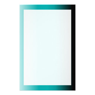 Black Teal White Ombre Stationery