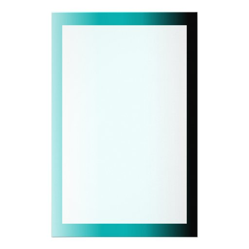 Black Teal White Ombre Customized Stationery