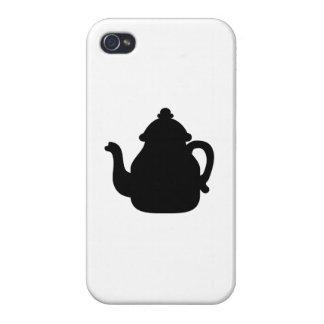 Black teapot iPhone 4 cover
