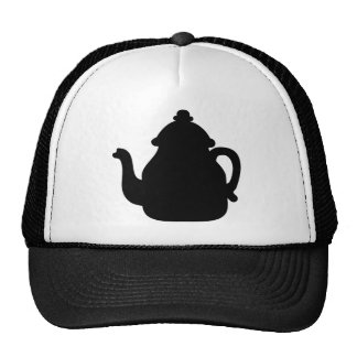 Black teapot trucker hats