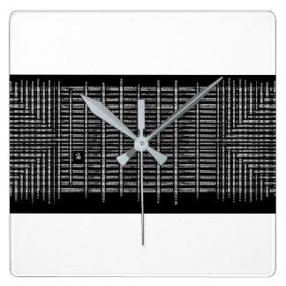 black tear square wall clock