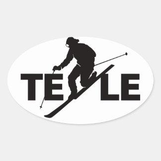 Black TELE Logo Sticker
