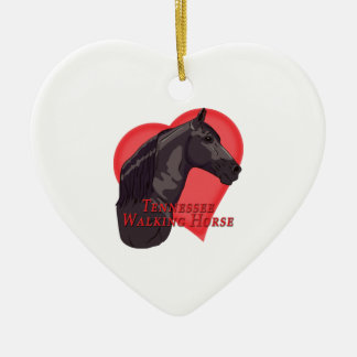 Black Tennessee Walking Horse Heart Ceramic Ornament