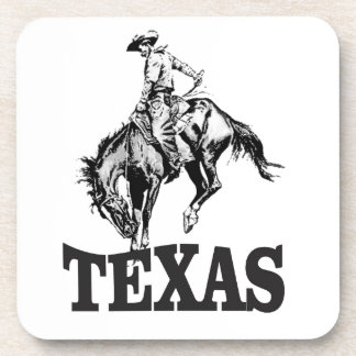 Black Texas Coaster