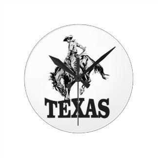 Black Texas Round Clock