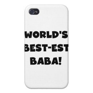 Black Text Best-est Baba and Gifts iPhone 4 Case